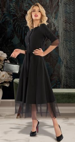Платье МИДИ с сеточкой № 43623