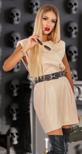Кожаное платье № 4540