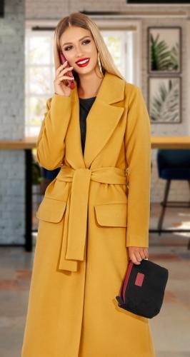 Удобное запашное пальто № 4535