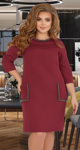 Свободное платье с жемчугом