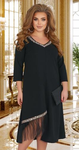 Стильное платье с открытым плечом