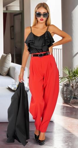 Красные брюки МОМ № 45103