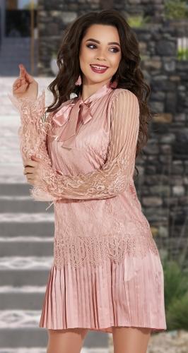 Красивое плиссированное платье № 4276