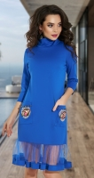 Комфортное прямое платье № 3852