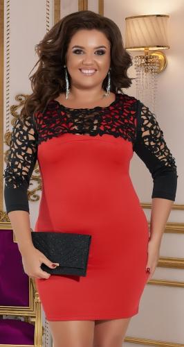 Облегающее платье с красивым лифом № 315021