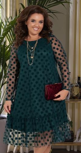Свободное платье с сеточкой № 392731