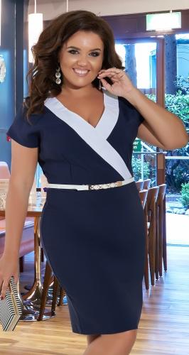 Красивое  платье с V-образным вырезом № 36591