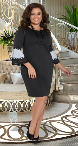 Красивое чёрное платье № 35131