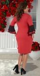 Красивое красное платье № 35131
