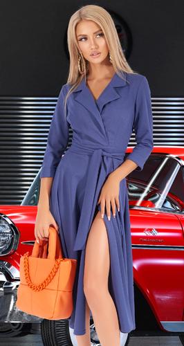 Приталенное платье в модном оттенке