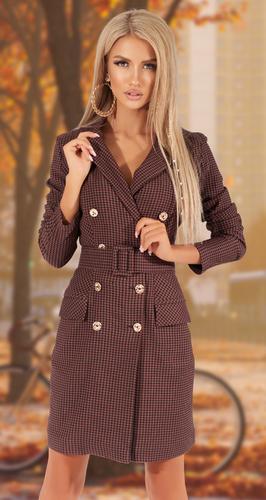Платье-пиджак в клетку