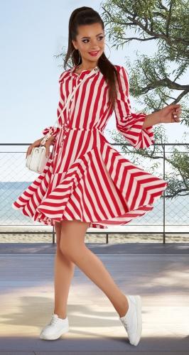 Лёгкое платье в полоску № 4340