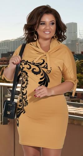 Трикотажное платье с завязками № 1105