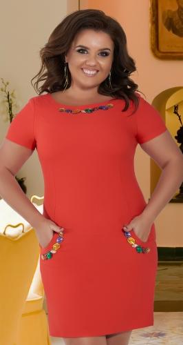 Красивое красное платье № 3054