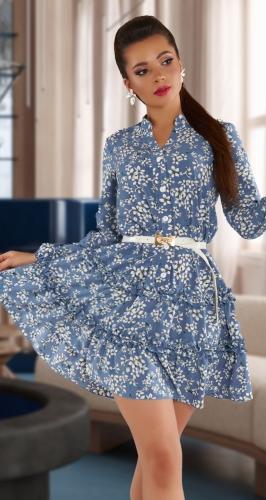 Стильное платье в мелкий принт № 4316