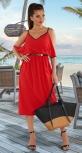 Стильное красное платье № 4386