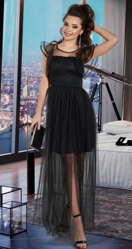 Черное вечернее платье № 4159
