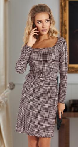 Стильное платье в клетку № 4560