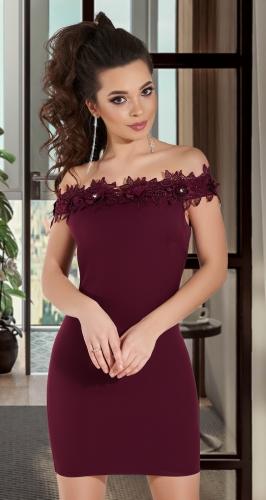 Нарядное платье с дорогим кружевом № 34033