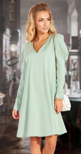 Нарядное расклешенное платье № 4533