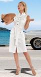 Льняное платье без рукава № 4266
