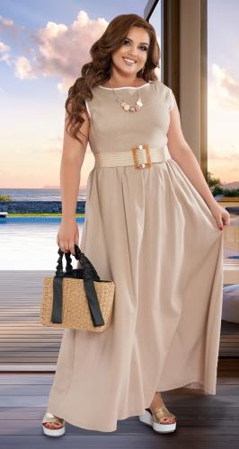 Длинное льняное платье № 42841