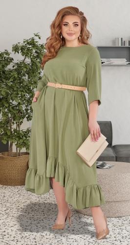 Красивое платье с оборкой