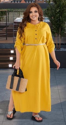 Льняное платье-туника №  43541