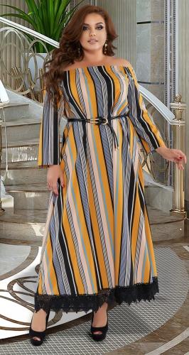 Платье в полоску № 44471