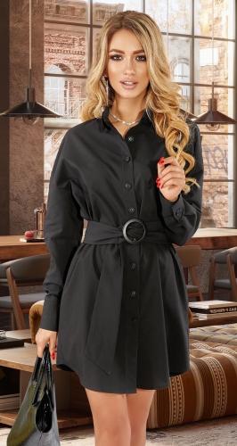 Платье-рубашка с ремешком