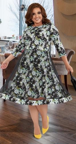 Красивое платье с двойной юбочкой № 431831
