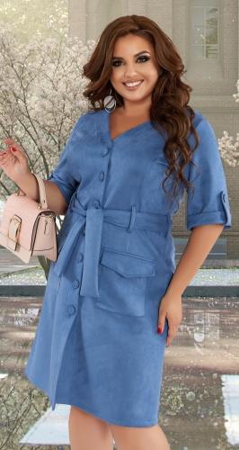 Модное платье из эко-замши № 43241