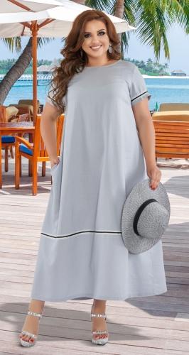 Стильное длинное платье № 44481