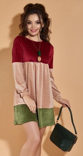Вельветовое платье № 4258