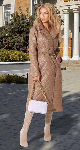 Модное пальто из плащевки