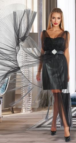 Двойка с платьем из эко-кожи № 4562
