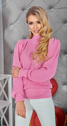 """Розовый свитер с """" Буфами """""""