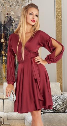 Шелковое платье с мерцающей прозрачной спинкой № 4519