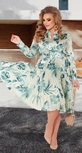 Шелковое платье с юбкой в складку гофре