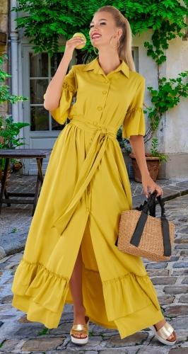 Длинное летнее платье № 4433