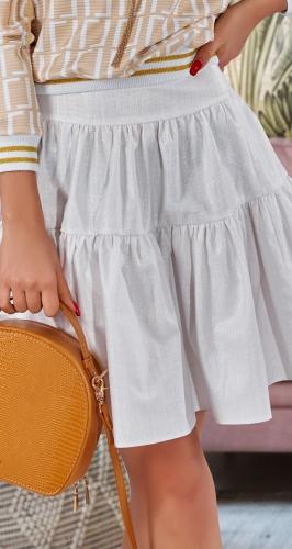 Модная льняная юбка