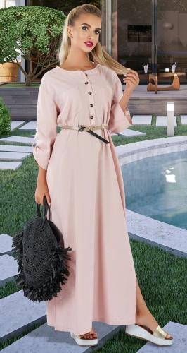 Льняное платье-туника №  4354