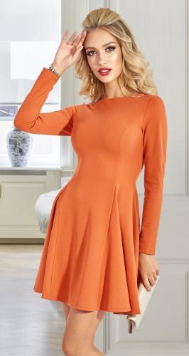 Стильное платье с расклешенной юбочкой № 4577