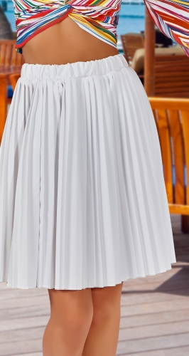 Белая юбка плиссе