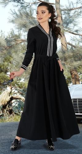 Стильное длинное платье № 3792
