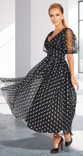 Платье-сеточка с красивым декольте № 4580