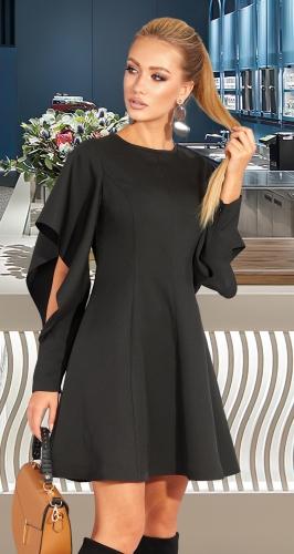 Стильное черное платье № 4586