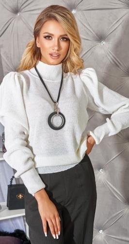 """Белый свитер с """" Буфами """""""