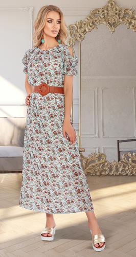 Шифоновое платье в длине миди