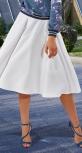 Белая юбка со складками